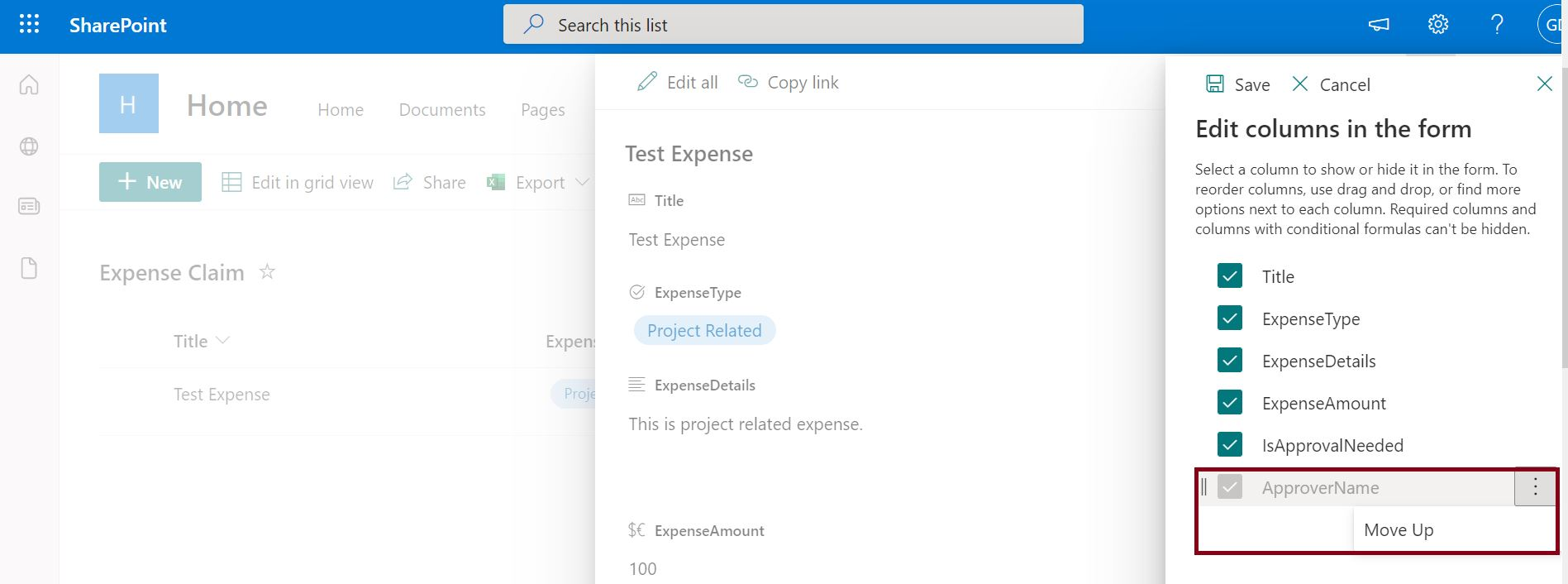 Edit conditional formula in modern SharePoint Online list is hidden when the column is required