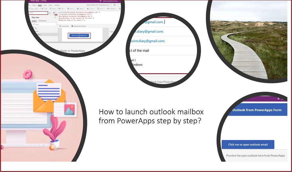 How to launch outlook mailbox from PowerApps step by step