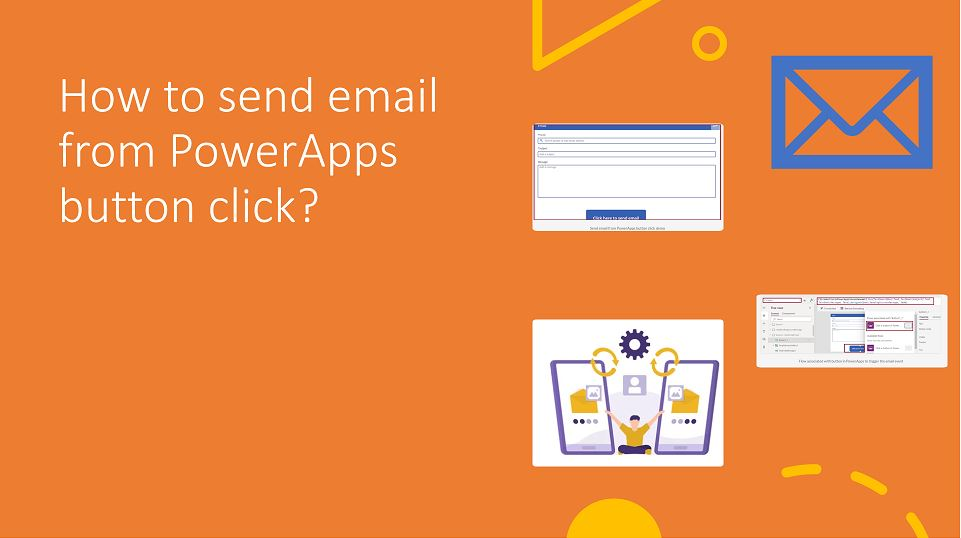 How to send email from PowerApps button submit