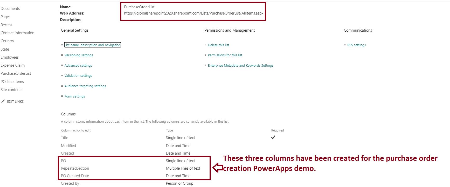 Purchase order table design for PowerApps repeating section POC